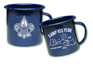 18 ounce metal porcelain coated cub scout campfire mug