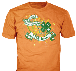 4-H Club stock design SP2710 on orange t-shirts