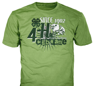 4-H Club stock design SP2988 on lime t-shirts