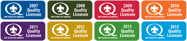 BSA Quality Licensee awards from BSA for each year since 2007