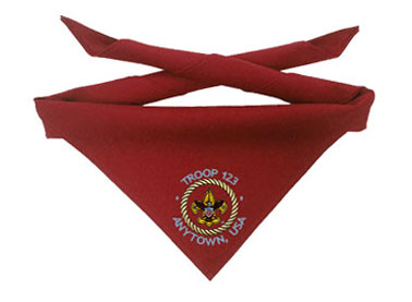 custom boy scout troop neckerchiefs