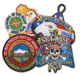 Boy scout custom patches collage