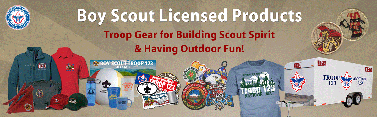 boy scout troop custom gear