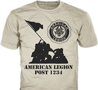 American Legion Post t-shirt design idea SP4445 on sand t-shirts