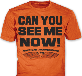 American Legion Riders t-shirt design idea SP4737 on orange t-shirts