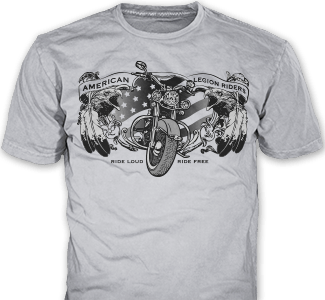 American Legion Riders t-shirt design idea SP4738 on ash grey t-shirts