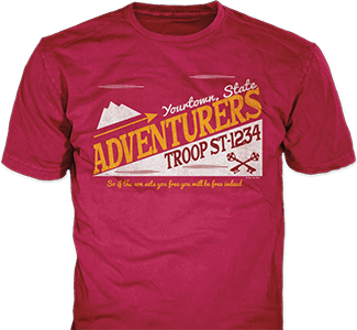 Trail Life USA t-shirt design idea SP6338 on cardinal red t-shirts