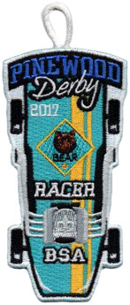 bear cub scout racer pinewood derby patch