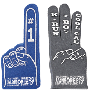 Custom jamboree foam fingers from classB