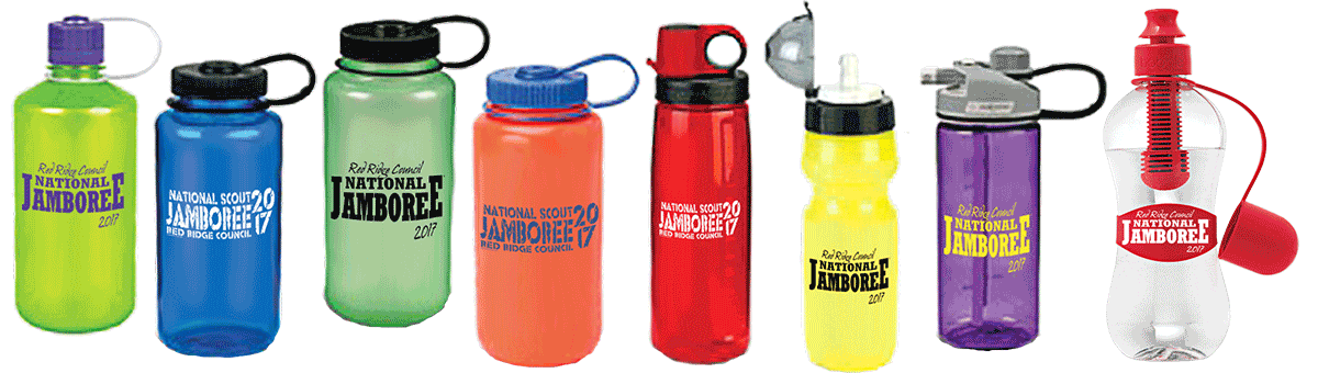 Custom jamboree plastic water bottles from classB