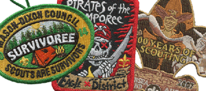 custom embroidered boy scout event patches