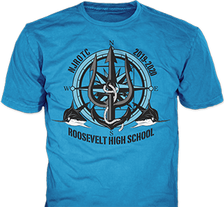 JROTC t-shirt design idea SP5512 on white t-shirts