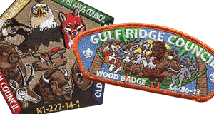 wood badge course custom patches examples