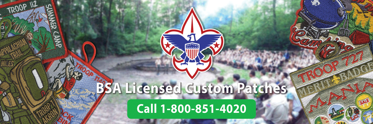 boy scout custom t-patch ordering is easy •low prices •free shipping