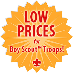 low prices for Boy Scout Troop custom embroidery medallion