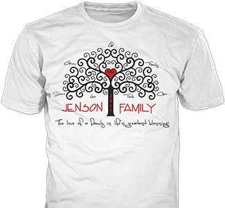 Family Reunion t-shirt design idea SP1879 on white t-shirts
