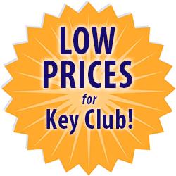 low prices for Key Club custom t-shirts medallion