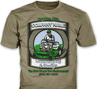 Lawn Care t-shirt design idea SP2986 on chestnut t-shirts