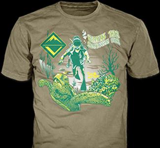 Venturing Crews t-shirt design idea SP4389 B110 on khaki t-shirts