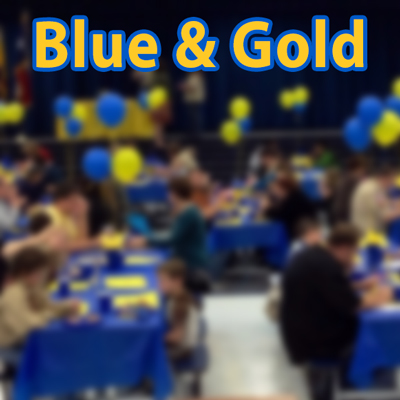 cub scout pack blue and gold photo