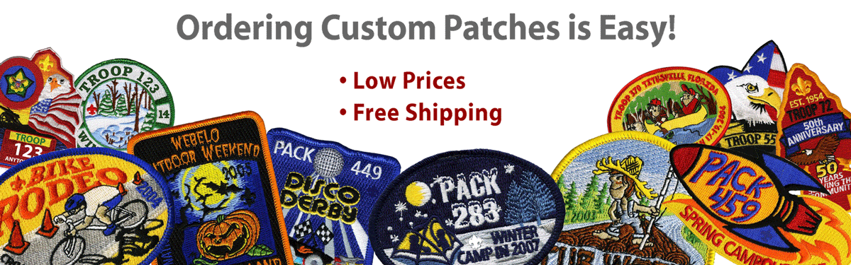 ordering custom patches is easy • low prices • free shipping