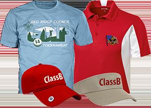 golf fundraiser tournament apparel and caps