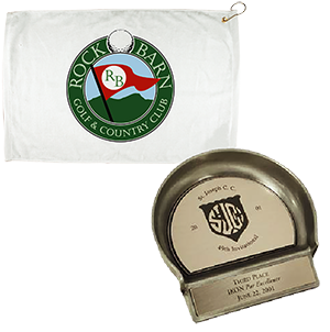 golf putters and golf towels