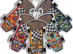pinewood derby Racer Patches