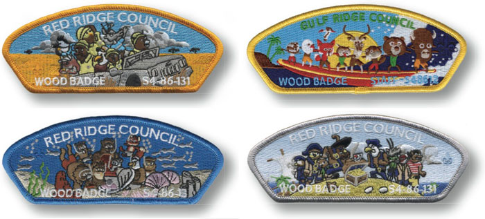 wood badge design ideas themes patches examples