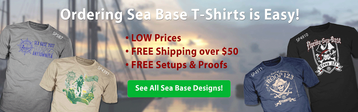 florida sea base trek t-shirt ordering is easy • low prices • free shipping