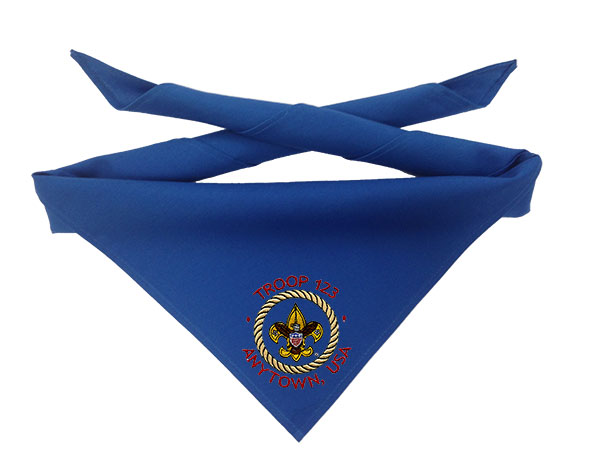 In-stock neckerchief with embroidery example