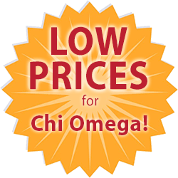 low prices for Chi Omega t-shirts medallion