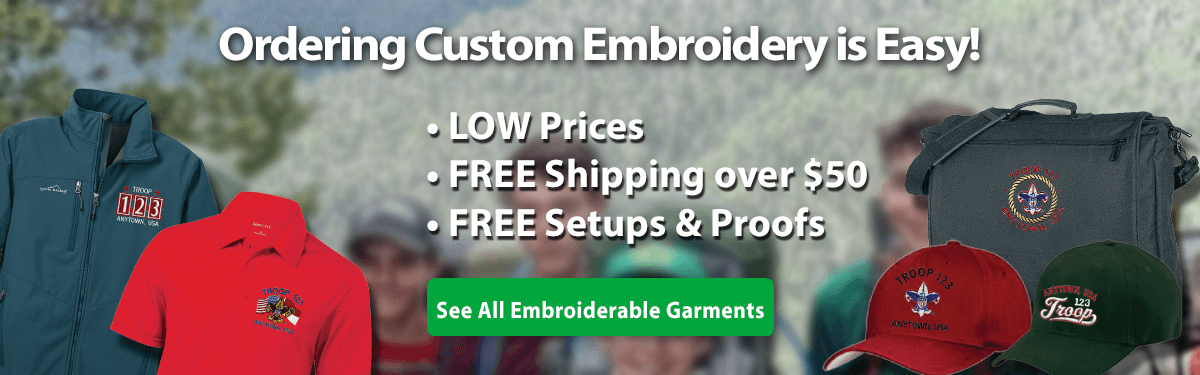 Custom embroidery ordering is easy low prices free shipping