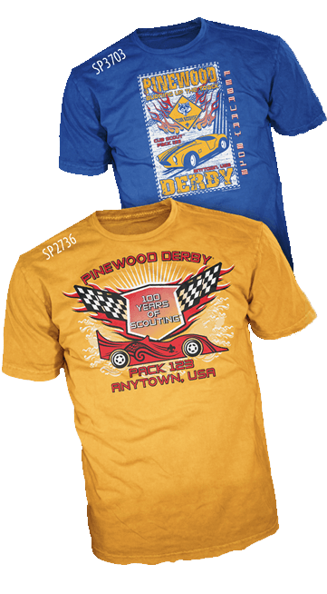 Custom cub scout pinewood derby t-shirt