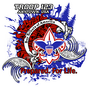 Be Prepared Boy Scout Troop Trailer Graphic