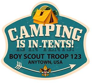 Camping is In-Tents Troop Trailer Graphic