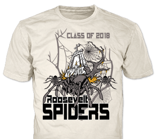 Class Of 2018 Roosevelt Spiders t-shirt design idea SP3178 on natural white t-shirts