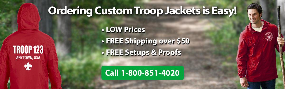 ClassB custom printed troop jackets