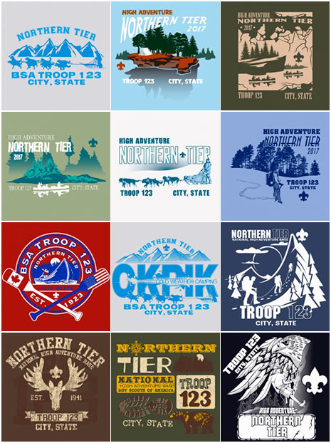 custom BSA Northern Tier t-shirt-designs