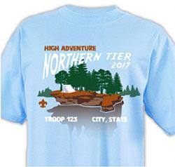 Boy Scout High Adventure Northern Tier t-shirt design