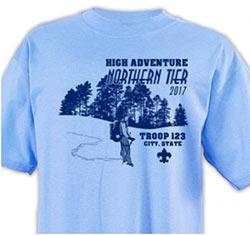 Northern Tier High Adventure T-shirt design 2017