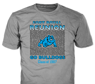 Class Reunion stock design SP5196 on forest green t-shirts