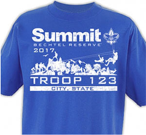 custom boy scout Summit Bechtel Reserve t-shirt design