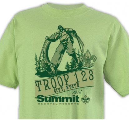 Summit Bechtel Reserve design for boy scout adventure t-shirt design