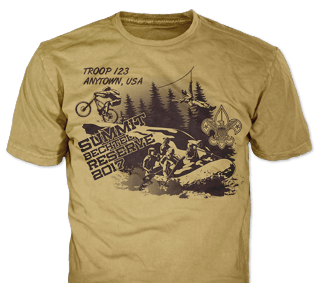 Summit Bechtel t-shirt design idea SP5136 on yellow haze