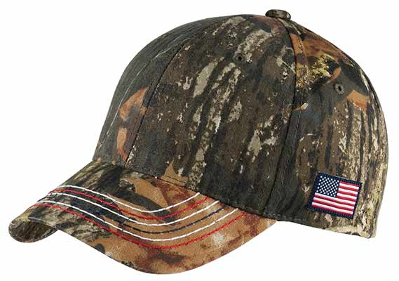 American Contrast Stich Camouflage Cap Mossy Oak