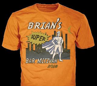Bar Mitzvah t-shirt design idea SP6128 on Safety Orange