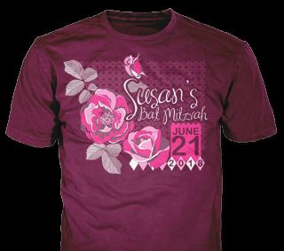 Bat Mitzvah t-shirt design idea SP5890 on Burgundy