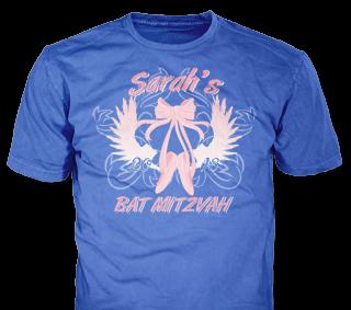 Bat Mitzvah t-shirt design idea SP6235 on Royal Blue