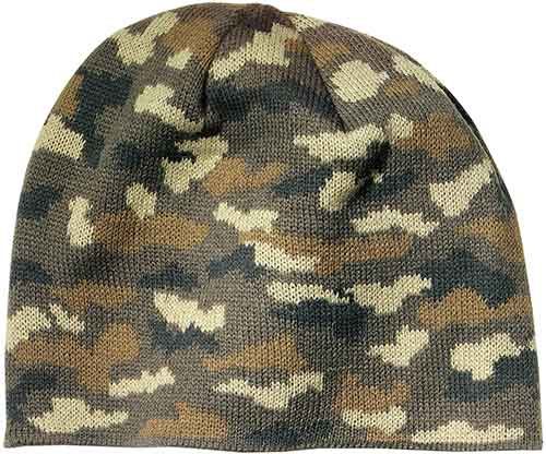 Military Camouflage Beanie for Sporting Clays